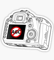 Canon 7D with AGC disable Sticker