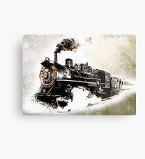 Vintage Steam Train Metal Print