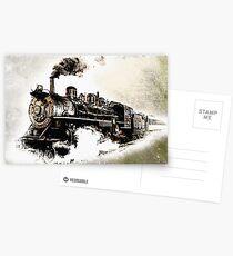 Vintage Steam Train Postcards