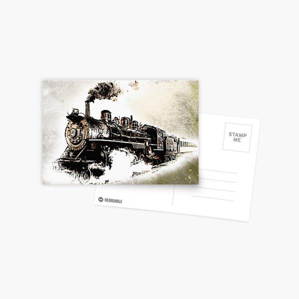 Vintage Steam Train Postcard
