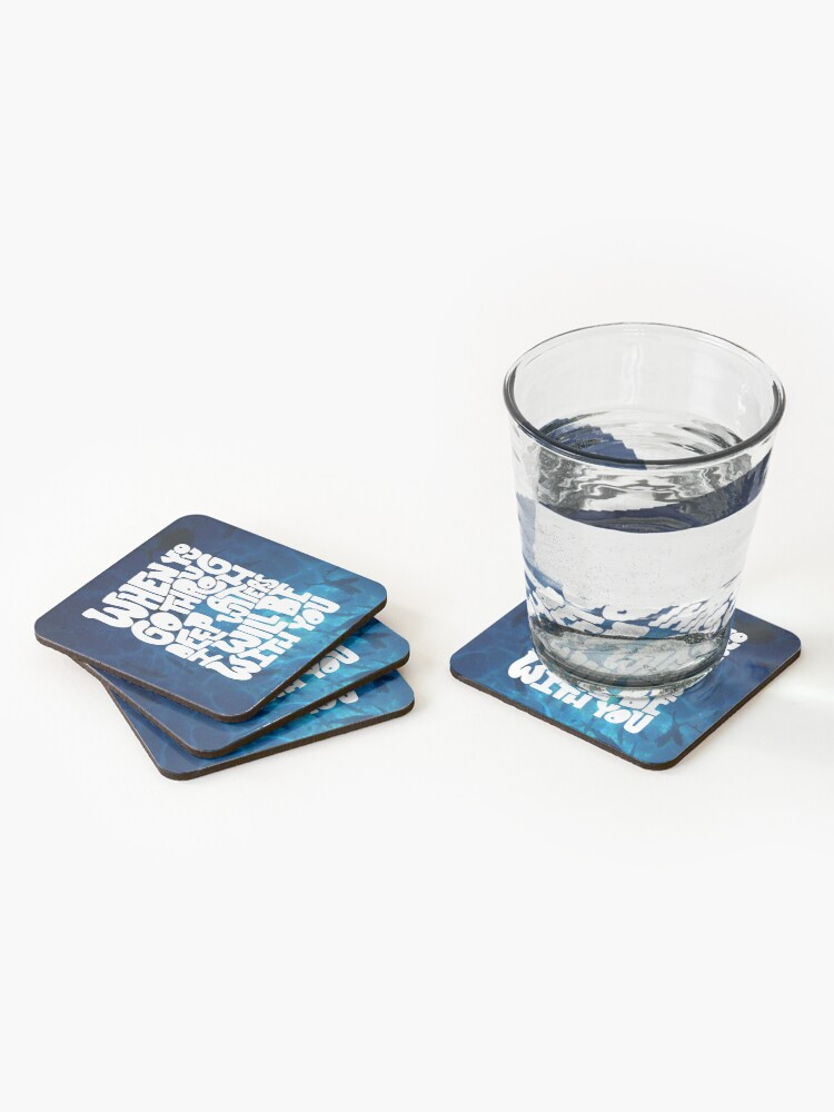 Alternate view of Through deep waters God is with you Coasters (Set of 4)