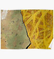 Abstract Urban Wall - Yellows Poster