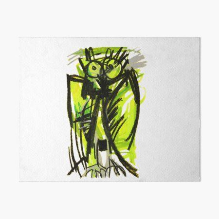 Crazy owl fluorescent Art Board Print