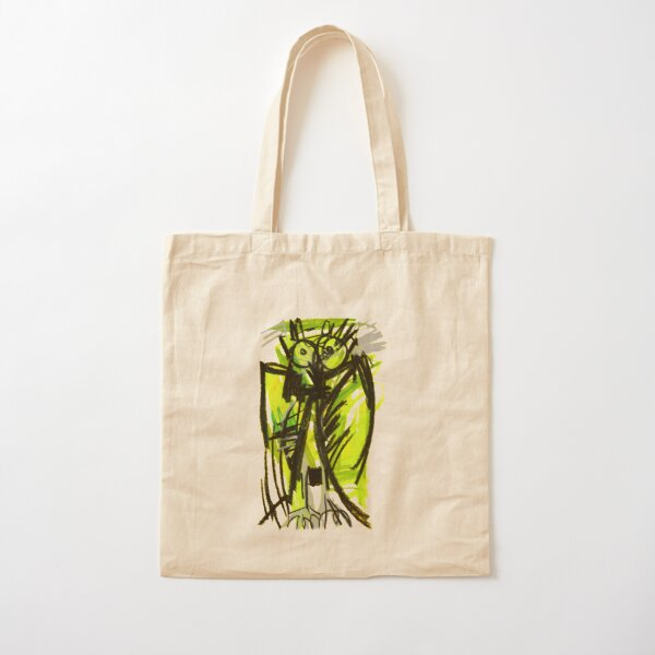 Crazy owl fluorescent Cotton Tote Bag