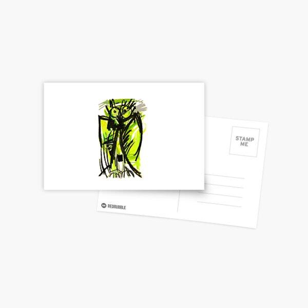 Crazy owl fluorescent Postcard