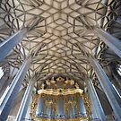Pipe organ and ceiling of Halle Marktkirche, Germany by Jenny Setchell