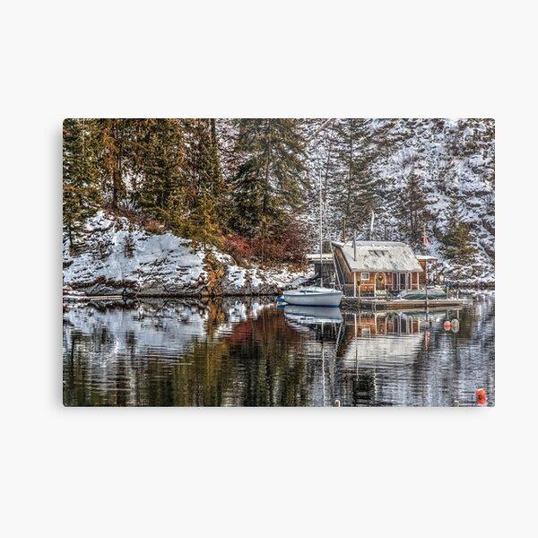Cabin on the water. Metal Print