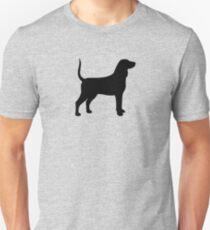 Bluetick Coonhound Silhouette(s) Unisex T-Shirt