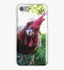 Curious chicken iPhone Case/Skin