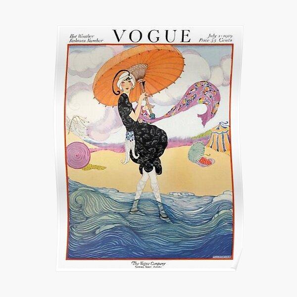 vintage vogue cover - july 1919 Poster