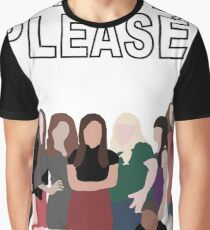"""""""Pitch, Please."""" Pitch Perfect Graphic T-Shirt"""