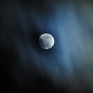 Clouds Racing Across the Wolf Moon by Kelly Nowak