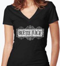 Beetlejuice Women's Fitted V-Neck T-Shirt