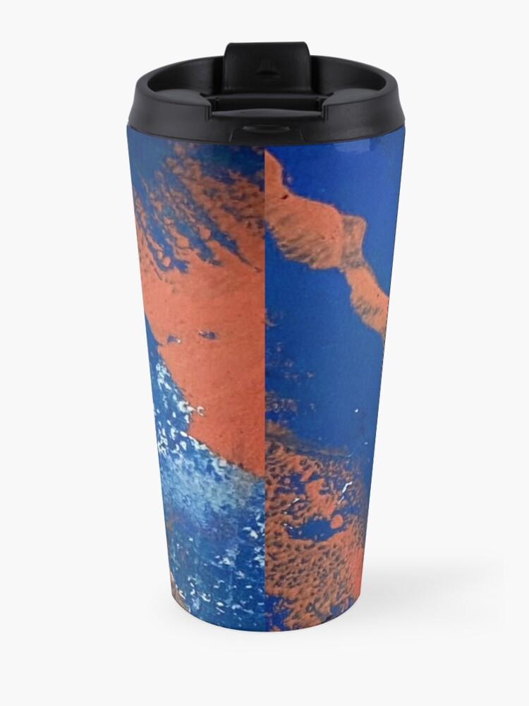 Alternate view of Print Work Blue   Travel Mug