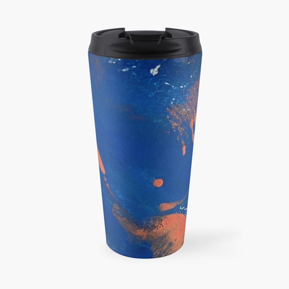 Print Work Blue   Travel Mug