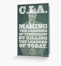 C.I.A. Leaders of Tomorrow Greeting Card