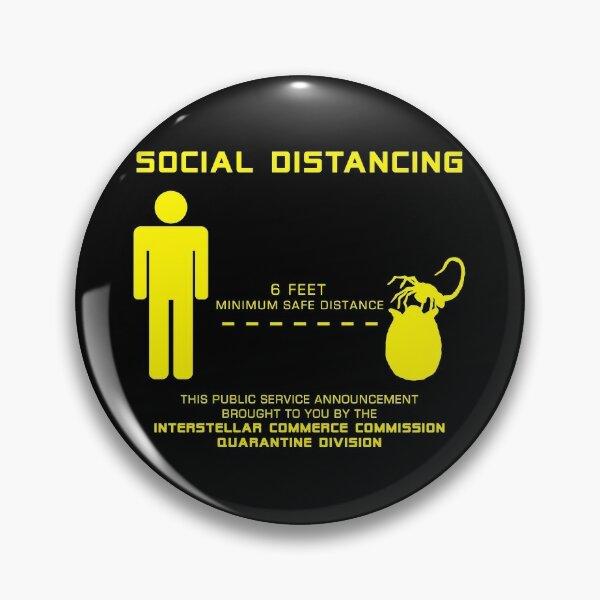 Social Distance Hugger - yellow Pin