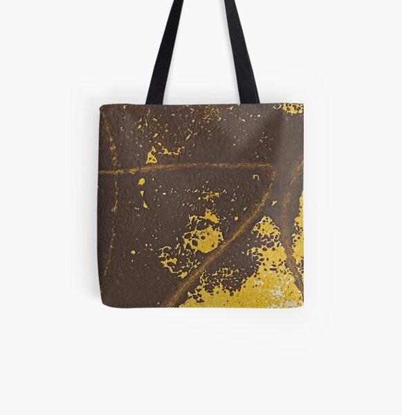 Print Work Yellow   All Over Print Tote Bag