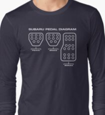 Subaru Pedal Diagram Long Sleeve T-Shirt