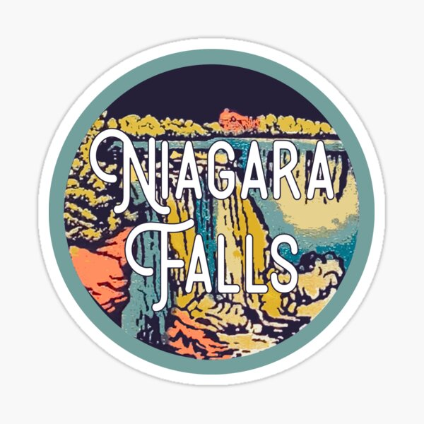 Niagara Falls Vintage Travel Decal Sticker