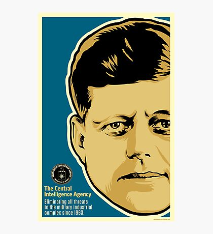 JFK CIA Photographic Print