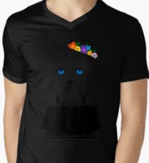 The Staring Cat & The Straw Hat Mens V-Neck T-Shirt