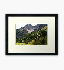 Austria Mountains Framed Print