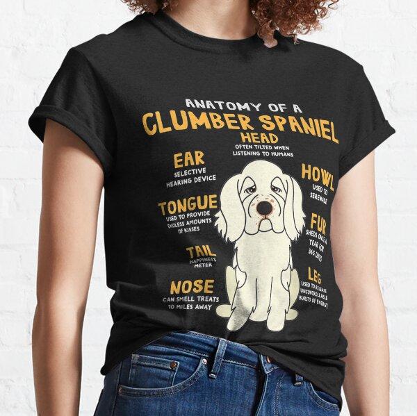 Clumber Spaniel Anatomy Funny Dog Mom Dad Cute Gift Classic T-Shirt