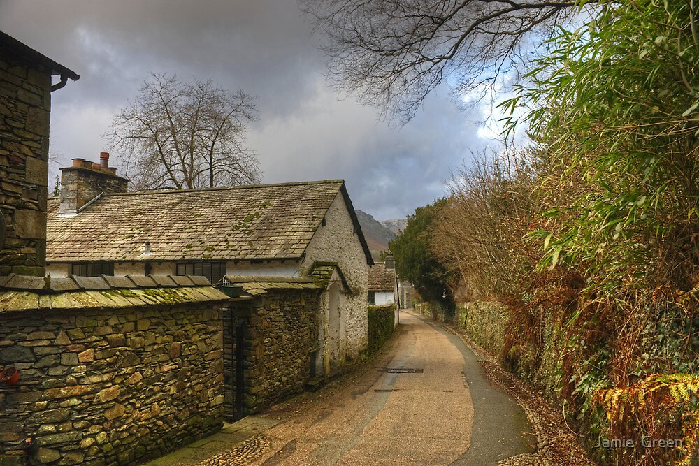 A Village Lane..The Other View by Jamie  Green