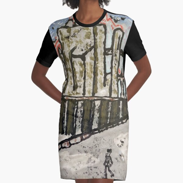 Futuristic Russia Graphic T-Shirt Dress
