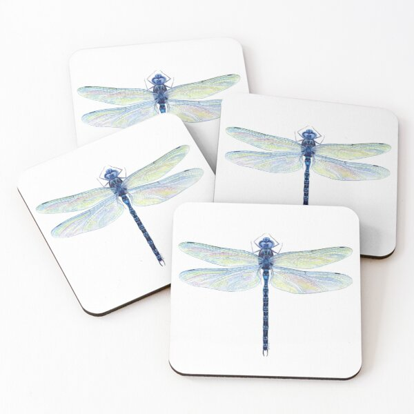 Spatterdock Dragonfly Coasters (Set of 4)