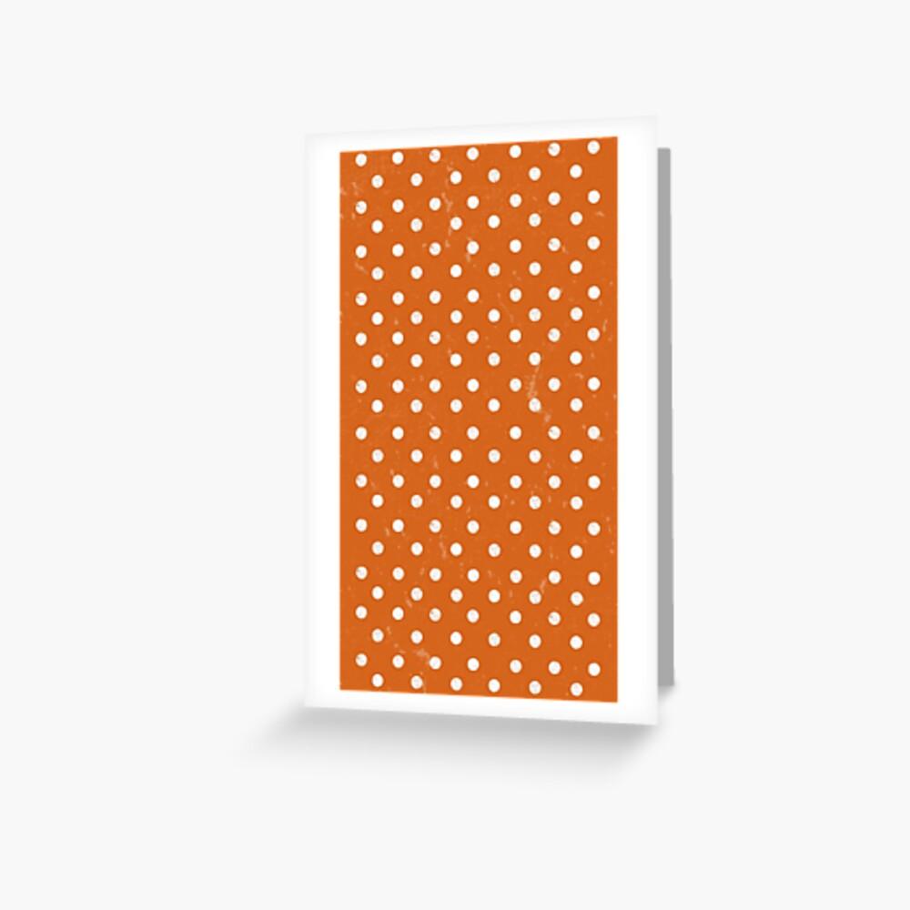 Orange Dots Greeting Card