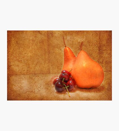 Pears & Cherries Photographic Print