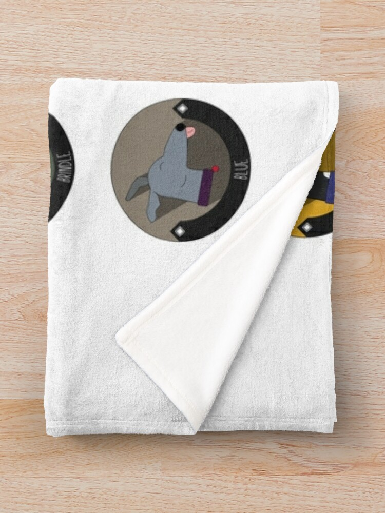 Alternate view of Greyhound Colour Guide Throw Blanket