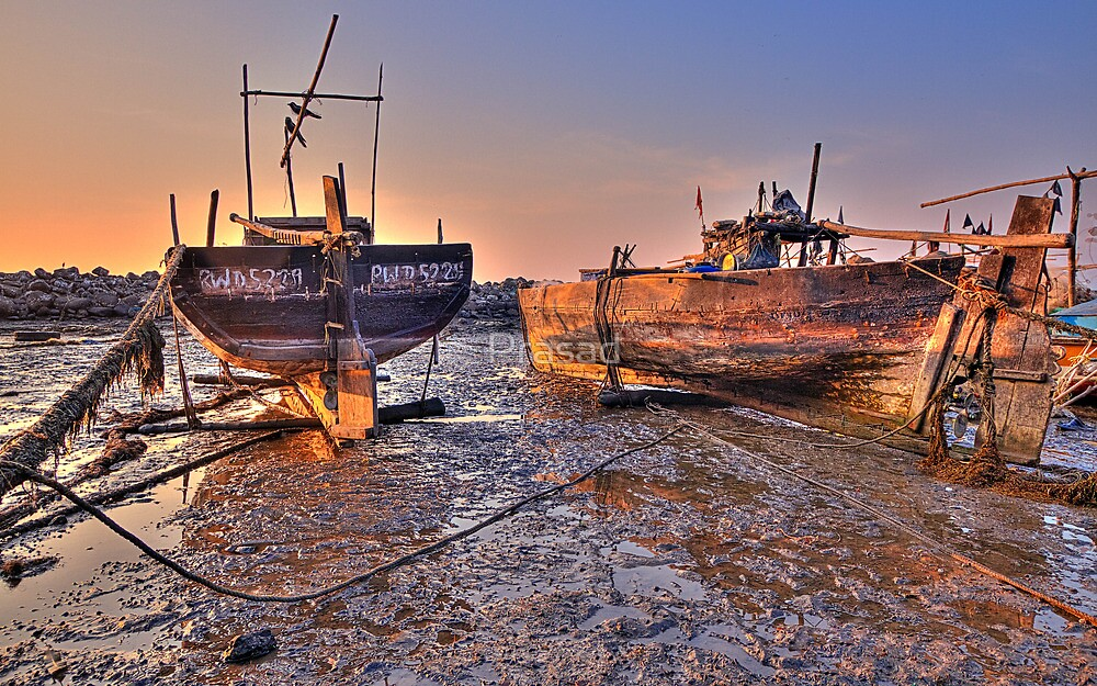 An evening on the fisherman's dock #2 by Prasad
