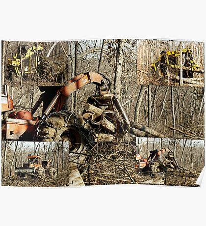 Logging Timber ~ Best Viewed Large Poster
