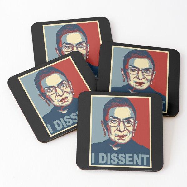 NOTORIOUS RBG ruth bader ginsburg i dissent Coasters (Set of 4)