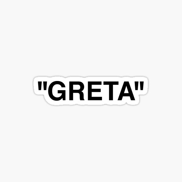 Off White Greta Sticker Label Sticker