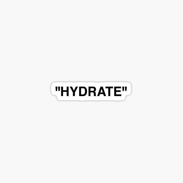 Off White Hydrate Water Bottle Sticker Label Sticker