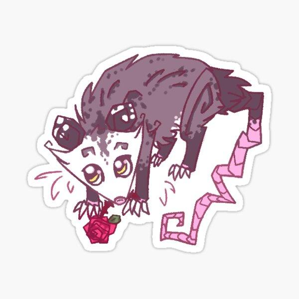 Rose Opossum 2 Sticker