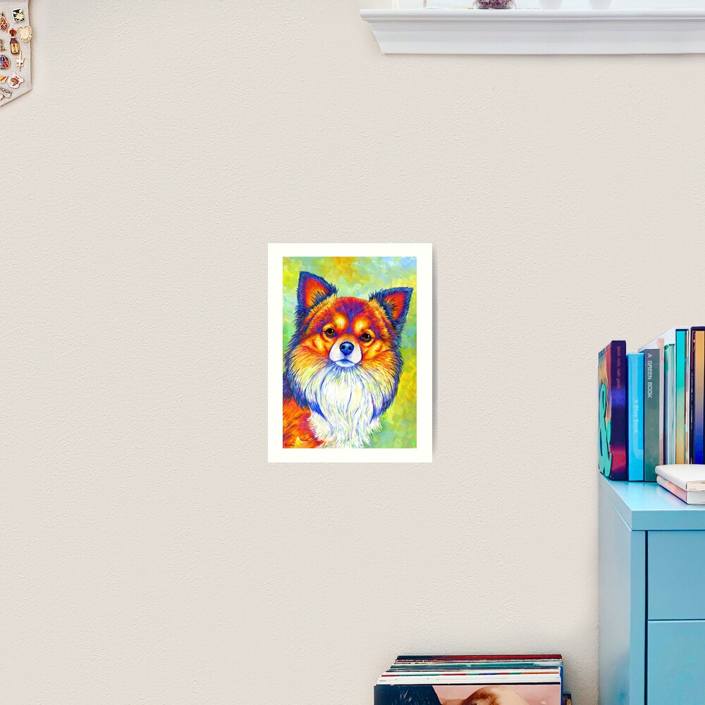 Small and Sassy - Colorful Rainbow Chihuahua Dog Art Print