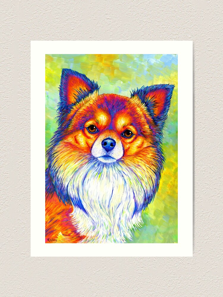 Alternate view of Small and Sassy - Colorful Rainbow Chihuahua Dog Art Print