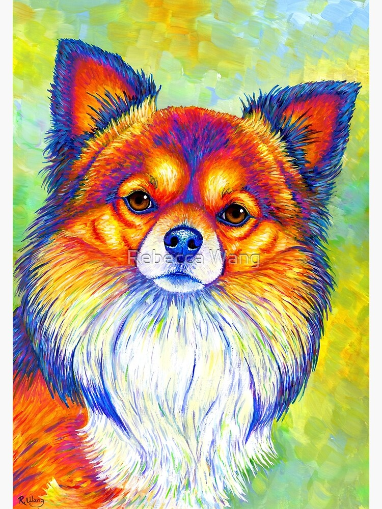Small and Sassy - Colorful Rainbow Chihuahua Dog by lioncrusher