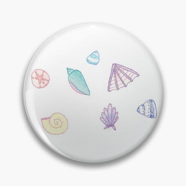 motif de coquille pastel Badge