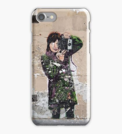 photo girl in paris iPhone Case/Skin