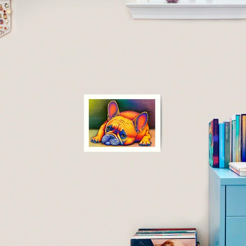 Daydreamer - Colorful French Bulldog Art Print