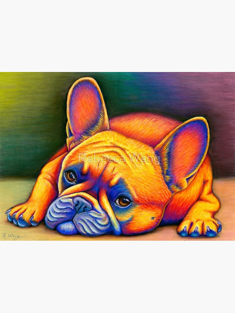 Daydreamer - Colorful French Bulldog by lioncrusher