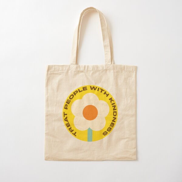 Treat People With Kindness Badge Cotton Tote Bag