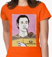 Lt. Commander Data of the starship Enterprise  Womens Fitted T-Shirt