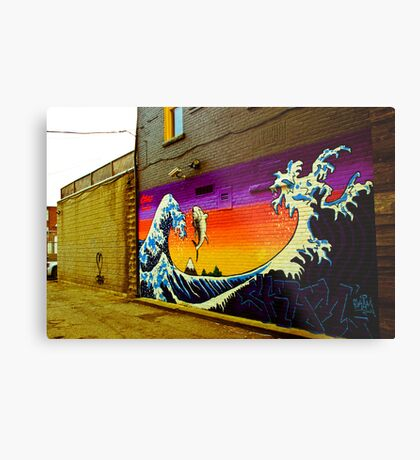 The Great Wave...Graffit style Metal Print